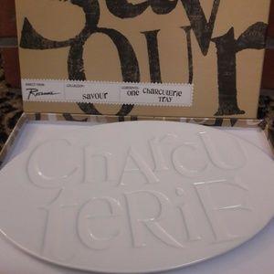Charcuterie White Serving Plate Savour Rosanna NEW